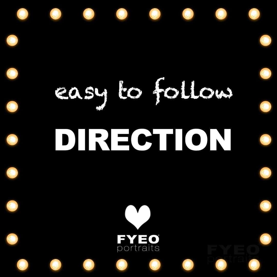text image saying easy to follow boudoir direction