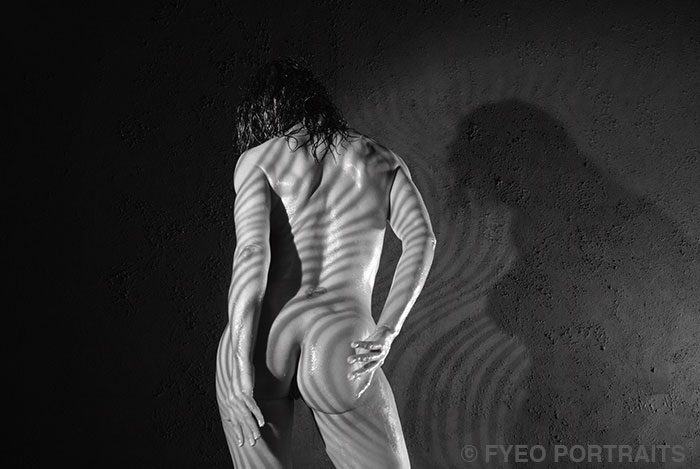 black and white portrait of nude woman FYEO