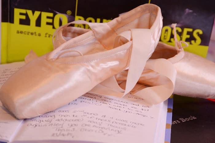 ballet shoes for boudoir