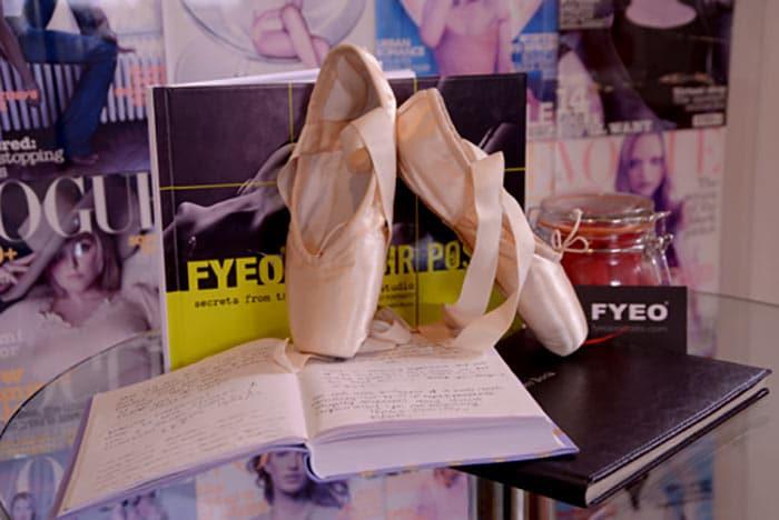 ballet pumps as wedding boudoir shoes