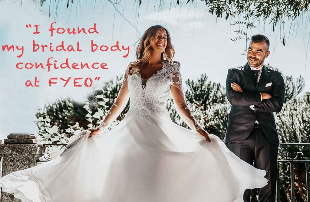 Picture of a bride who found bridal body confidence at FYYEO portraits