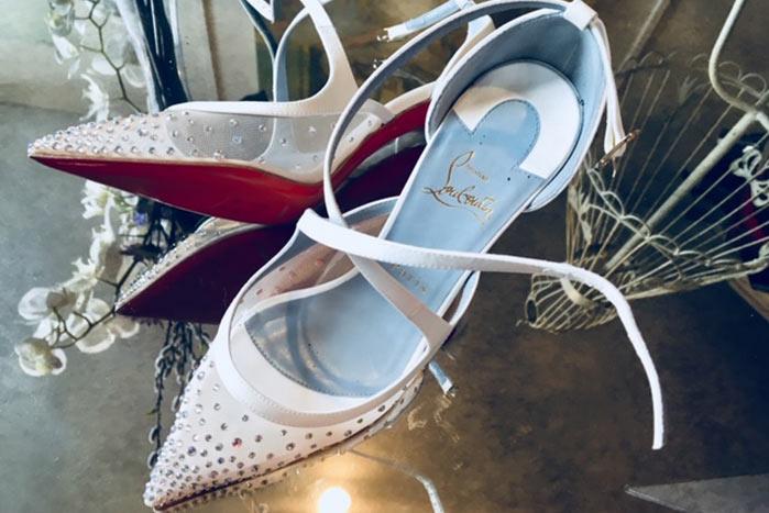 bridal louboutin wedding shoes