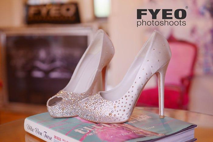 bridal boudoir shoes