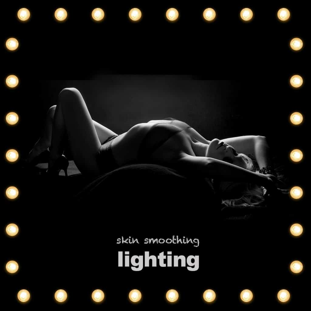 skin smoothing lighting for your boudoir photoshoot near London