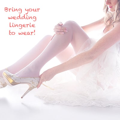 bring your wedding lingerie to your boudoir bride photoshoot