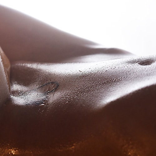 tummy with oil